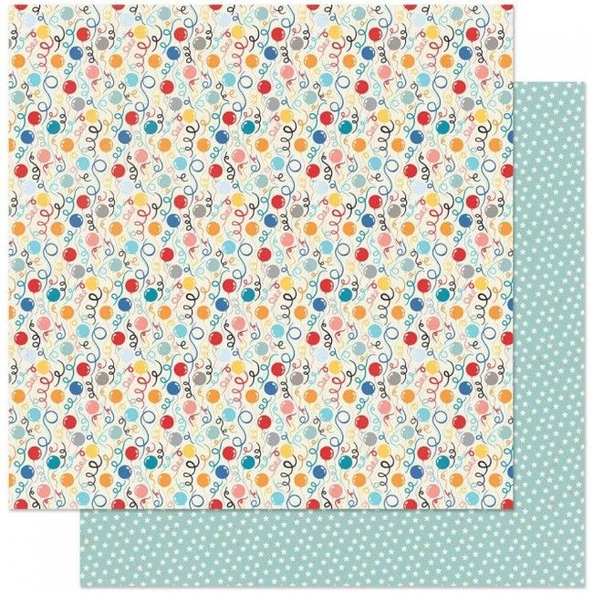 Papel Estampado Doble Cara 12x12 Hooray #3 Balloons