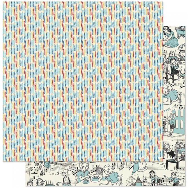 Papel Estampado Doble Cara 12x12 Hooray #4 Candles
