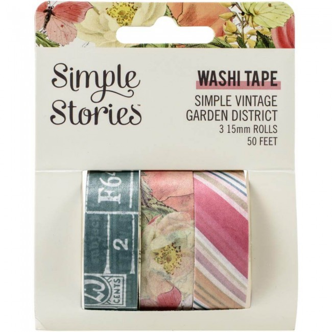Set de Washi Tape Simple Vintage Garden District