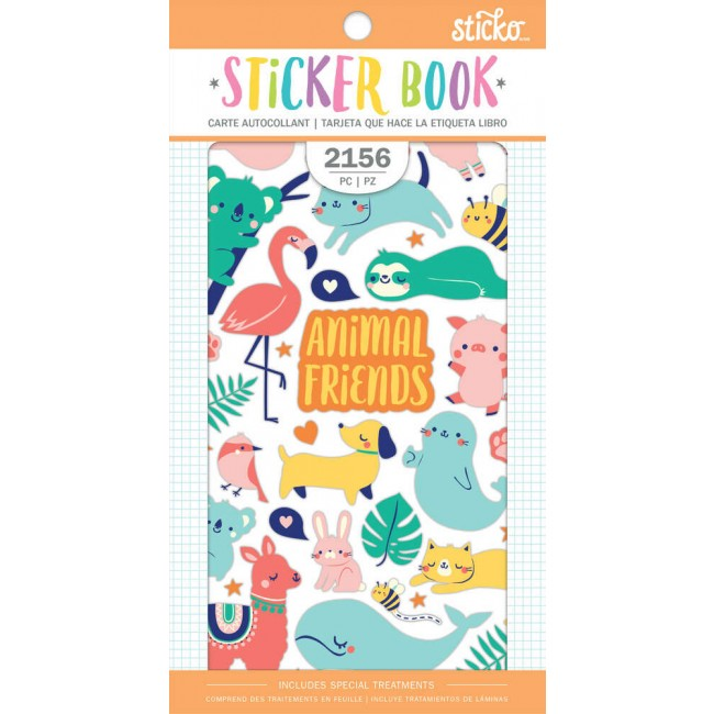 Librillo de pegatinas Animal Friends