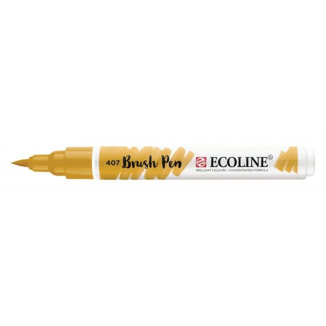 Rotulador Ecoline Brush Pen 407 Ocre Oscuro