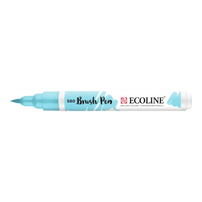 Rotulador Ecoline Brush Pen 580 Azul Pastel