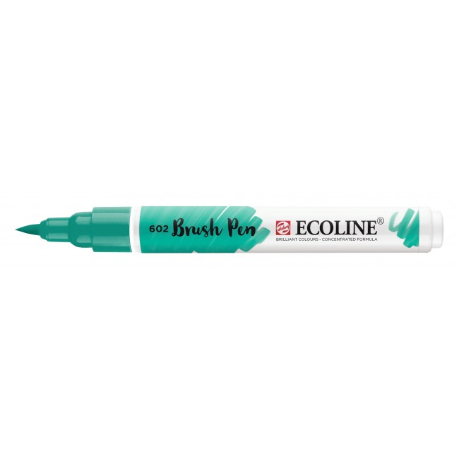 Rotulador Ecoline Brush Pen 602 Verde Oscuro