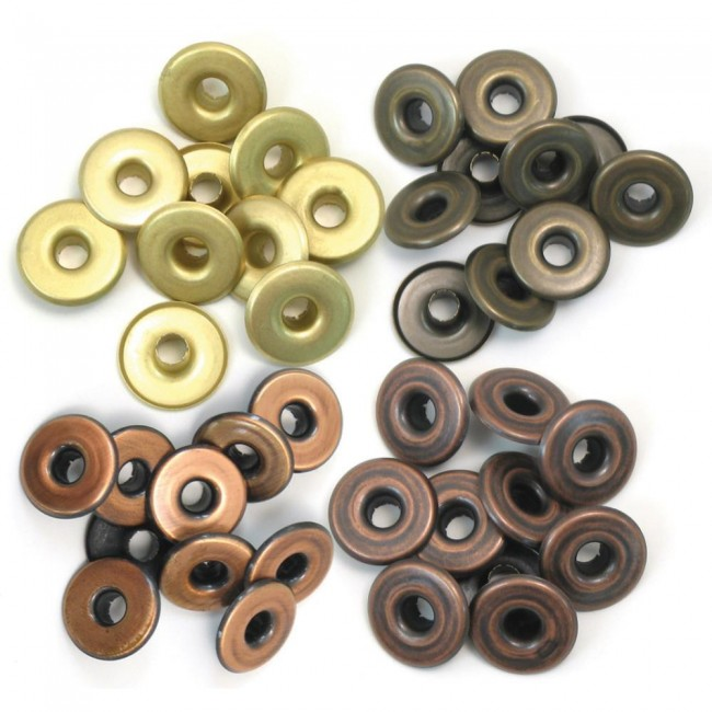 40 Eyelets Metal Calido Grandes 5 mm