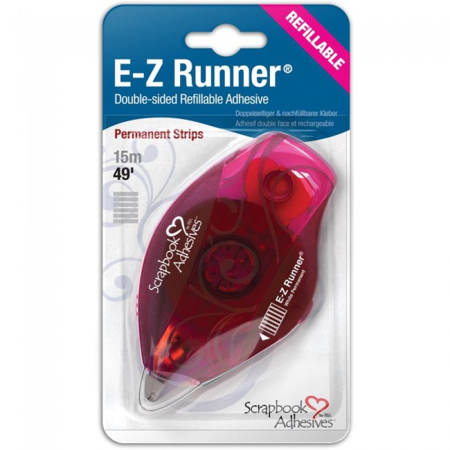 Cinta doble cara E Z Runner Strips Permanente Recargable