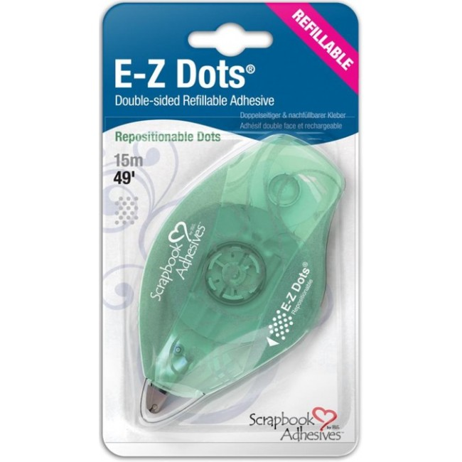 Cinta doble cara  E-Z Runner Dots Reposicionable Recargable