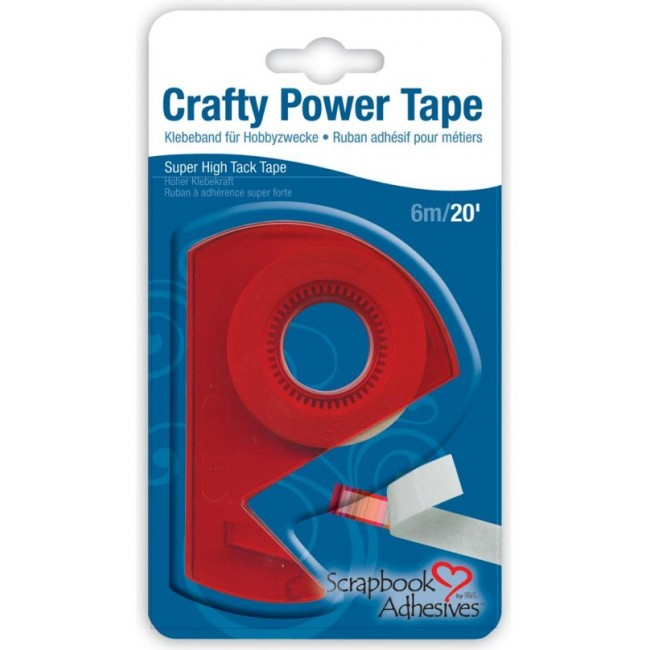 Cinta doble cara Crafty Power Tape + Dispensador