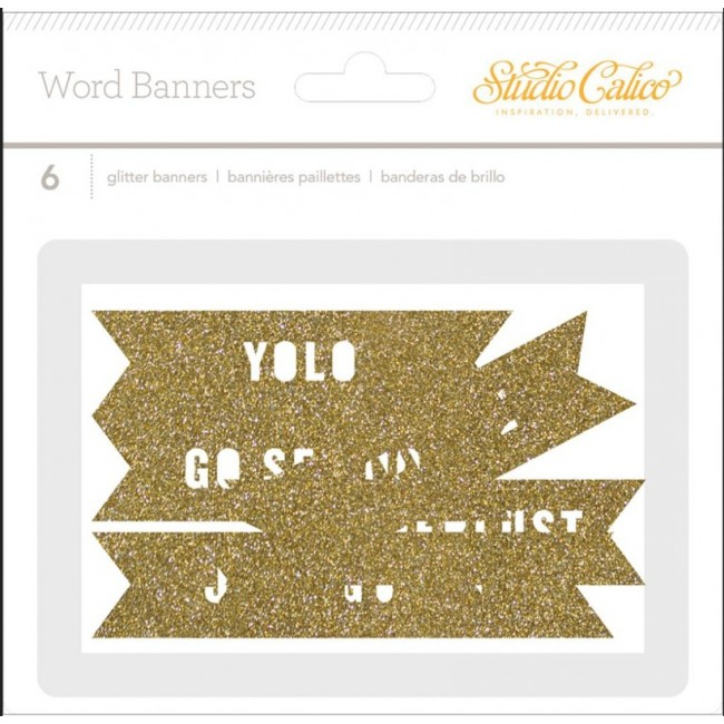 Wanderlust Glitter Die Cuts Shapes