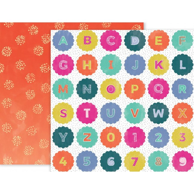 Papel Estampado Doble Cara 12x12   Oh My Heart   #20