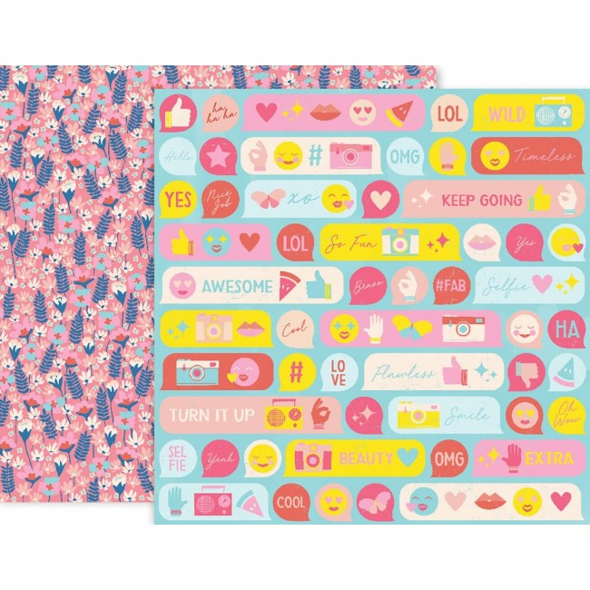 Papel Estampado Doble Cara 12x12 - Pick Me Up - #08