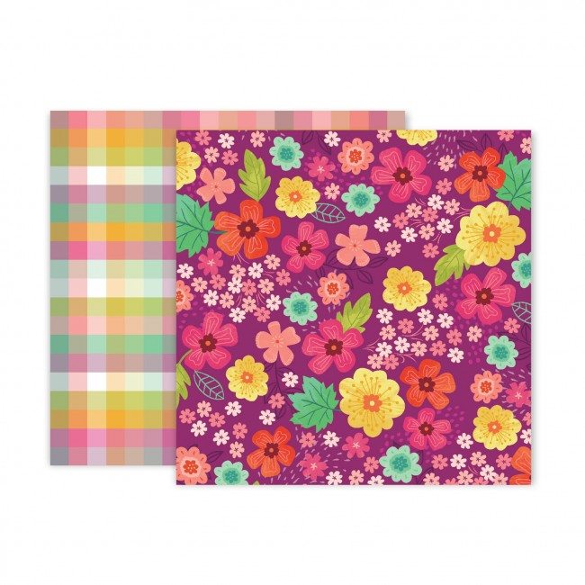 Papel Estampado Doble Cara 12x12 Truly Grateful Paige Evans Paper 2