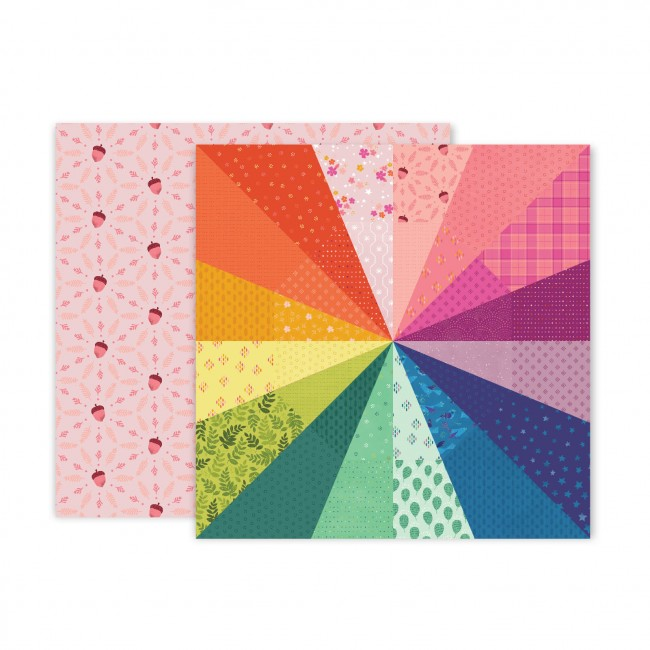 Papel Estampado Doble Cara 12x12 Truly Grateful Paige Evans Paper 8