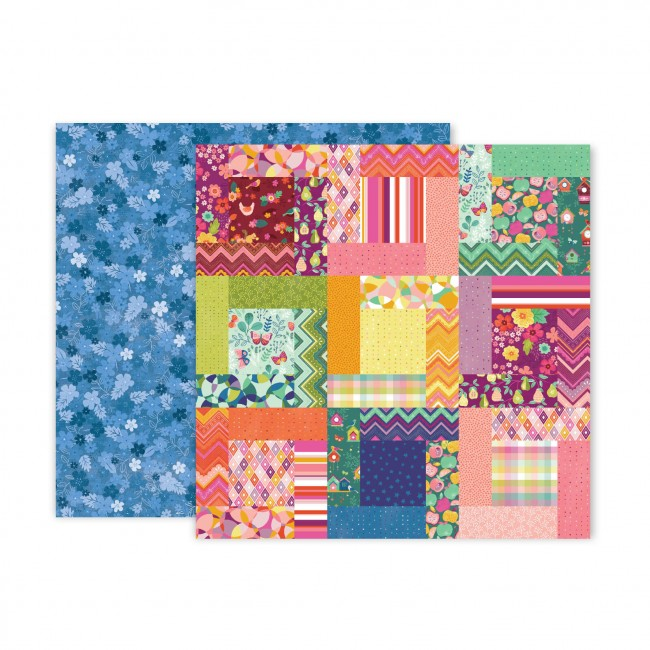 Papel Estampado Doble Cara 12x12 Truly Grateful Paige Evans Paper 9