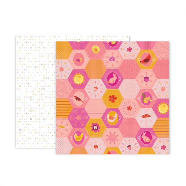 Papel Estampado Doble Cara 12x12 Truly Grateful Paige Evans Paper 21