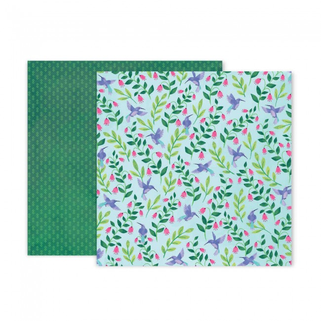 Papel Estampado Doble Cara 12x12 Bloom Street Paige Evans #21