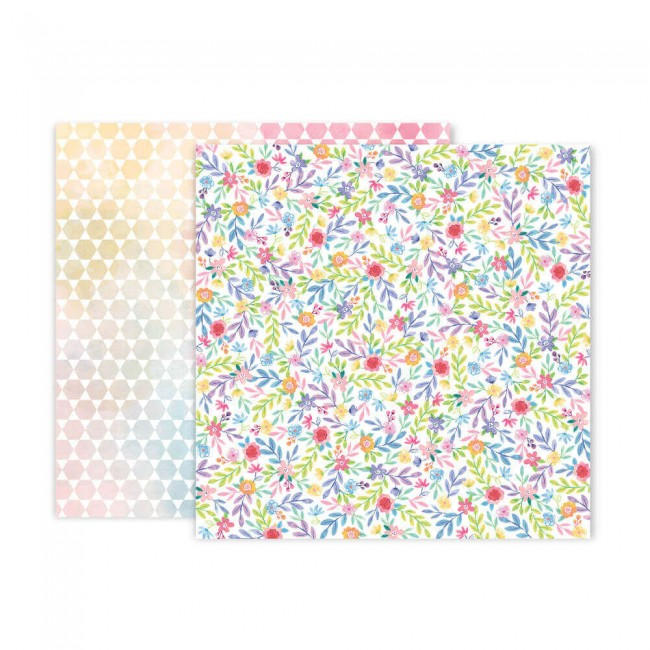 Papel Estampado Doble Cara 12x12 Bloom Street Paige Evans #23