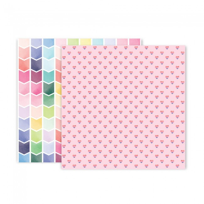 Papel Estampado Doble Cara 12x12 Bloom Street Paige Evans #24
