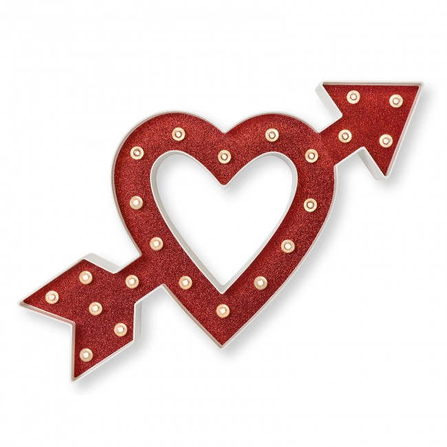 "Marquee  14"" Heart/Arrow"