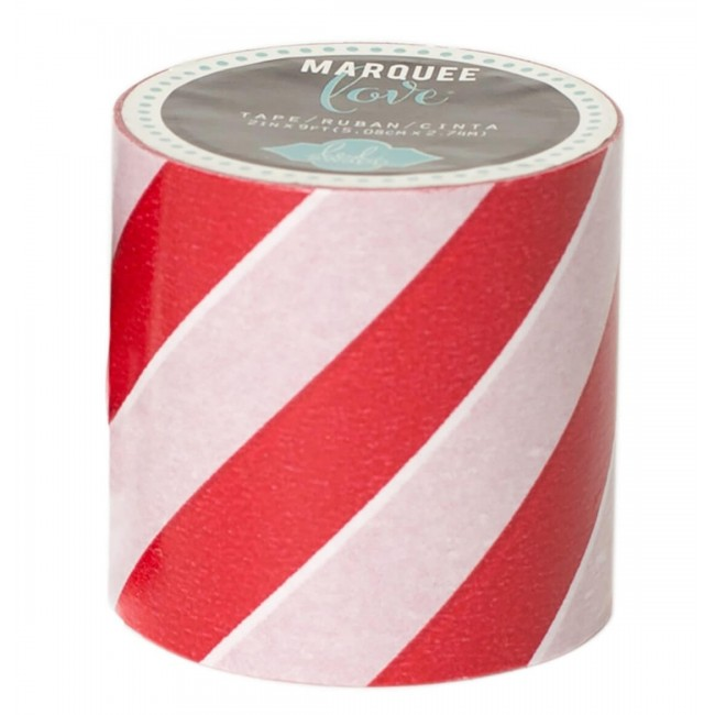 Washi Tape Marquee Love XL Glitter Red Stripe