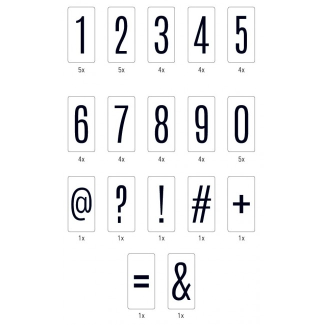 Black On White Background Numbers Lightbox