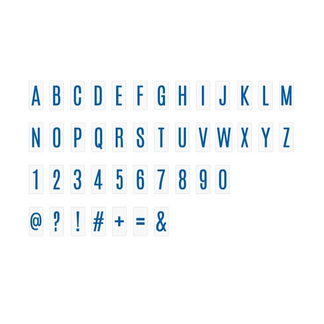 Insertos Lightbox - Alphabet & Numbers/Blue