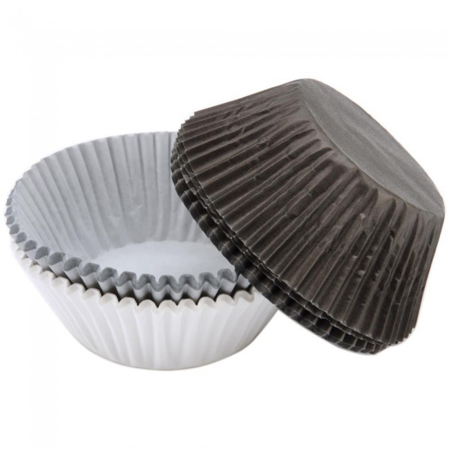 Standart Baking Cups White/Black/Silver