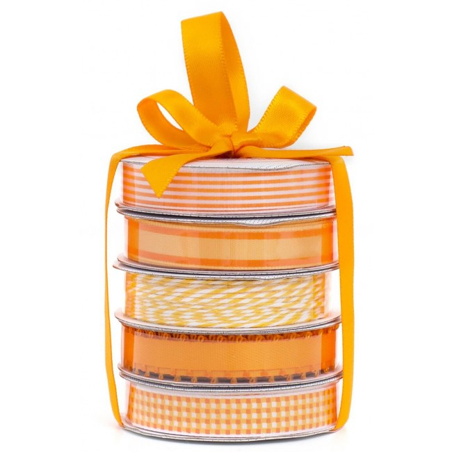 Set Cintas Decorativas   Spring Orange