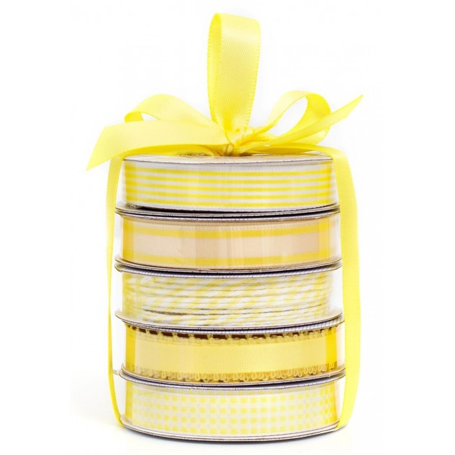 Set Cintas Decorativas   Spring Yellow