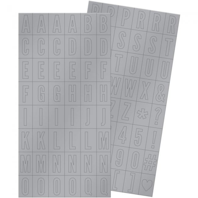 Pegatinas alfabetos Silver & Gold Block Stickers -20% DESCUENTO