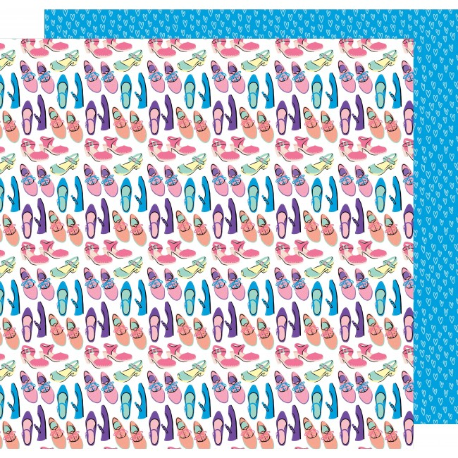 Papel Estampado Doble Cara 12x12   Sunshine & Good Times   Shoe In
