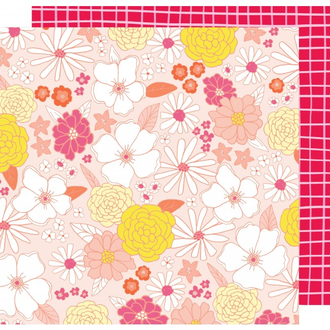 Papel Estampado Doble Cara 12x12   Stay Colorful   Groovy