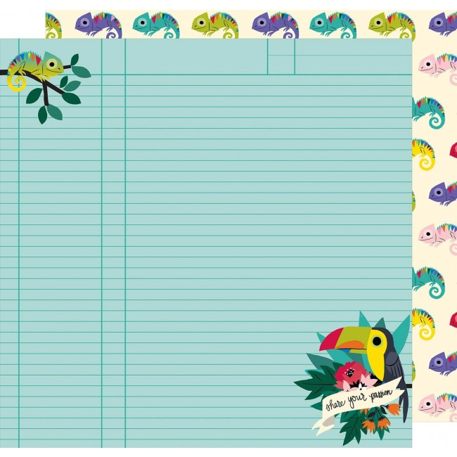 Papel Estampado Doble Cara 12x12 - Box Of Crayons - All Change
