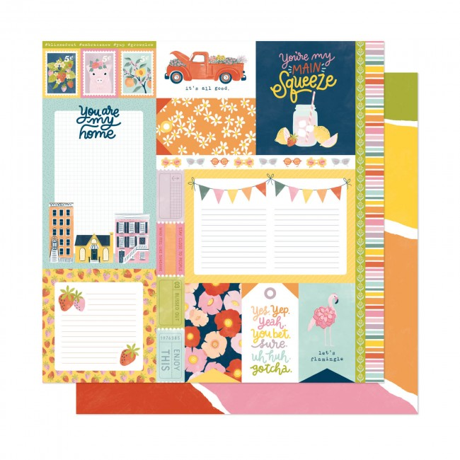 Papel Estampado Doble Cara 12x12 It's All Good Main Squeeze