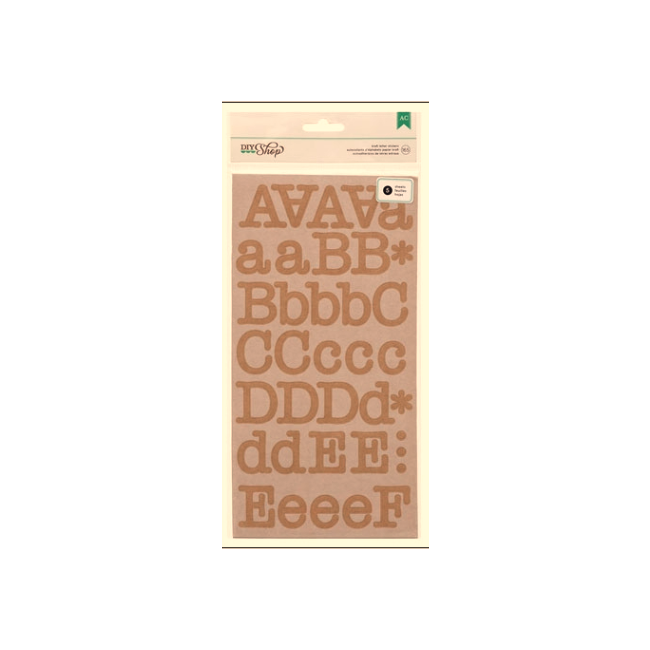 Pegatinas alfabetos Typewriter/Kraft Alpha Stickers -20% DESCUENTO