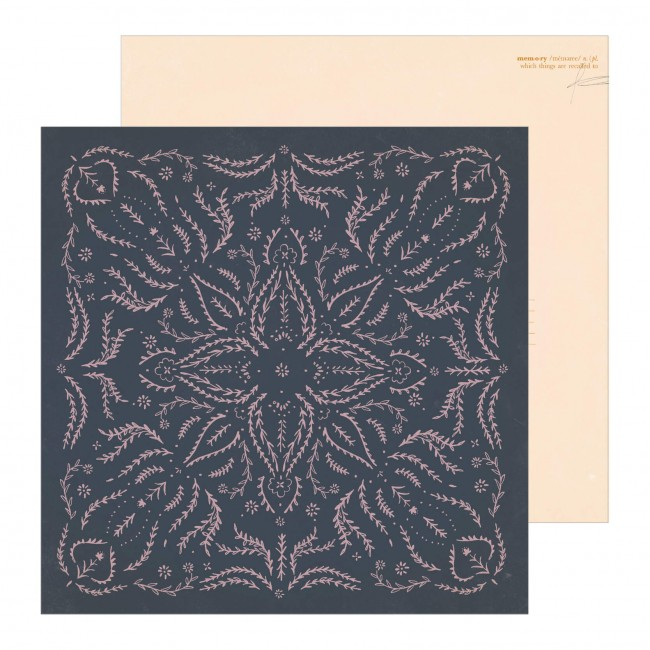 Papel Estampado Doble Cara 12x12 Maggie Holmes Heritage Embroidered
