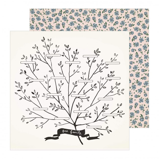 Papel Estampado Doble Cara 12x12 Maggie Holmes Heritage Family Tree
