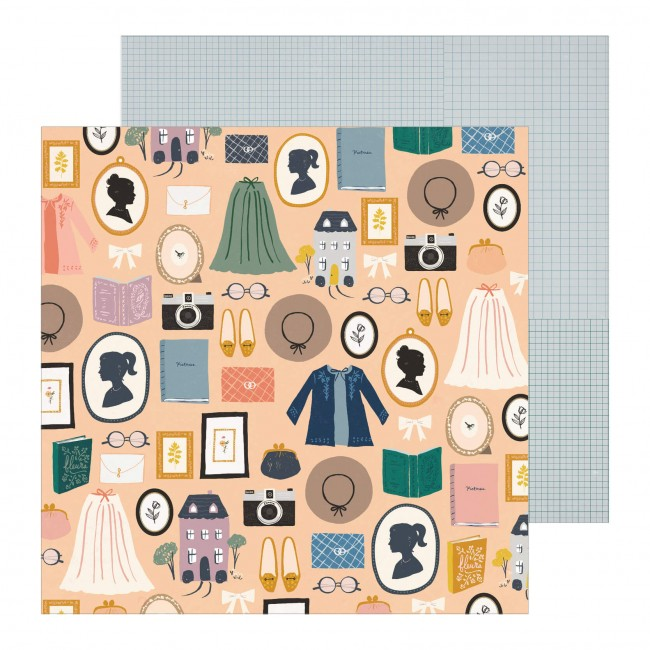 Papel Estampado Doble Cara 12x12 Maggie Holmes Heritage Decades