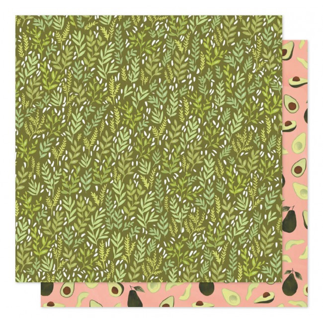Papel Estampado Doble Cara 12x12 Saturday Afternoon Meadow Grass