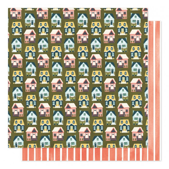 Papel Estampado Doble Cara 12x12 Saturday Afternoon Cottages