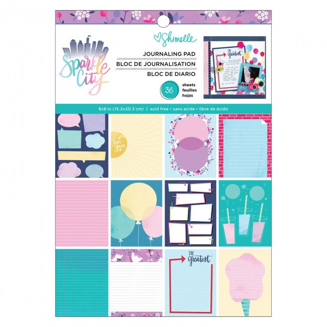 Stack Papeles Estampados 6x8 Una cara Sparkle City