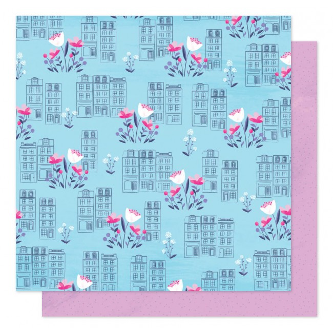 Papel Estampado Doble Cara 12x12 Sparkle City Spring In The City