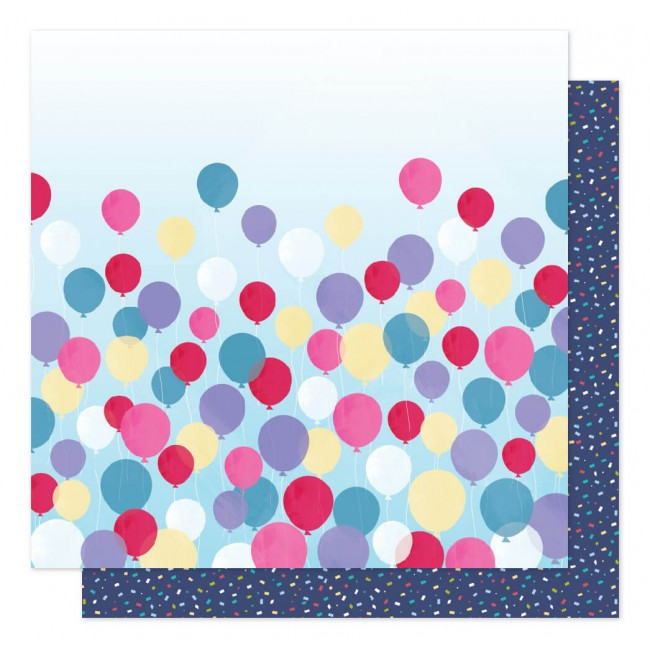 Papel Estampado Doble Cara 12x12 Sparkle City Time To Party