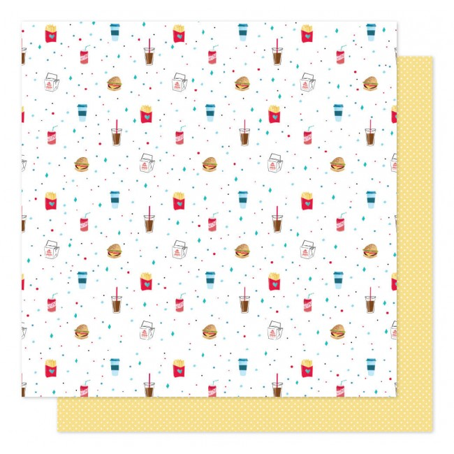 Papel Estampado Doble Cara 12x12 Sparkle City Grab and Go