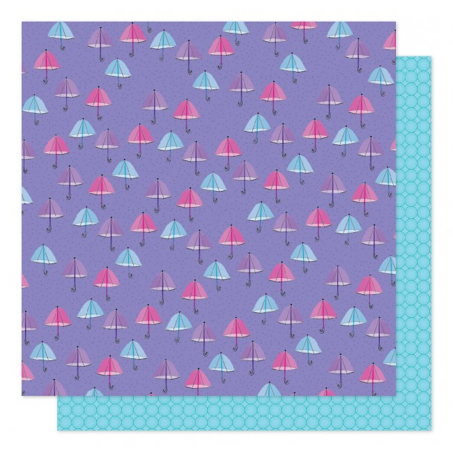 Papel Estampado Doble Cara 12x12 Sparkle City Rainy Day