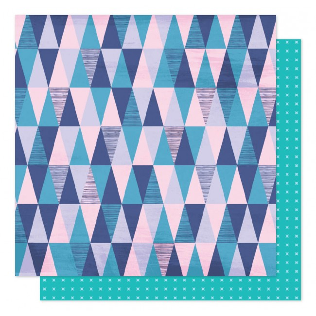 Papel Estampado Doble Cara 12x12 Sparkle City Mountain View
