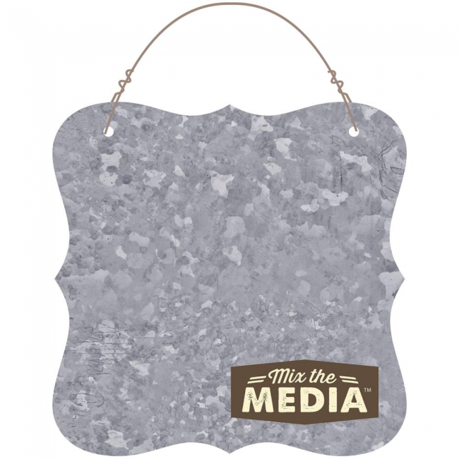 "Galvanized Surface Plaque 12"" x 12"""