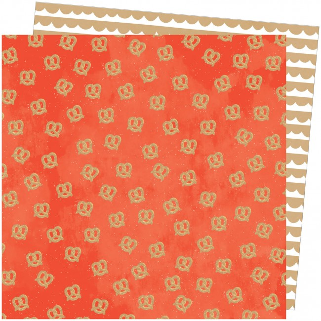 Papel Estampado Doble Cara 12x12 Slice Of Life Amy Tangerine In a Twist
