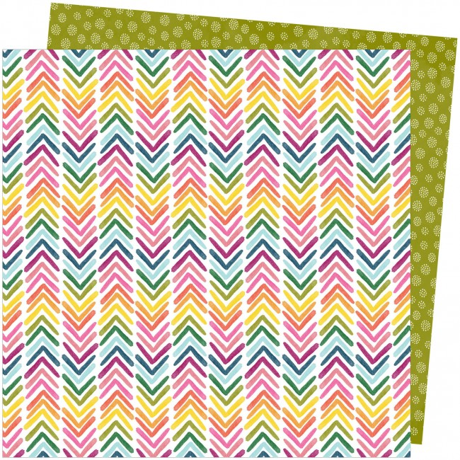 Papel Estampado Doble Cara 12x12 Slice Of Life Amy Tangerine Onward and Upward
