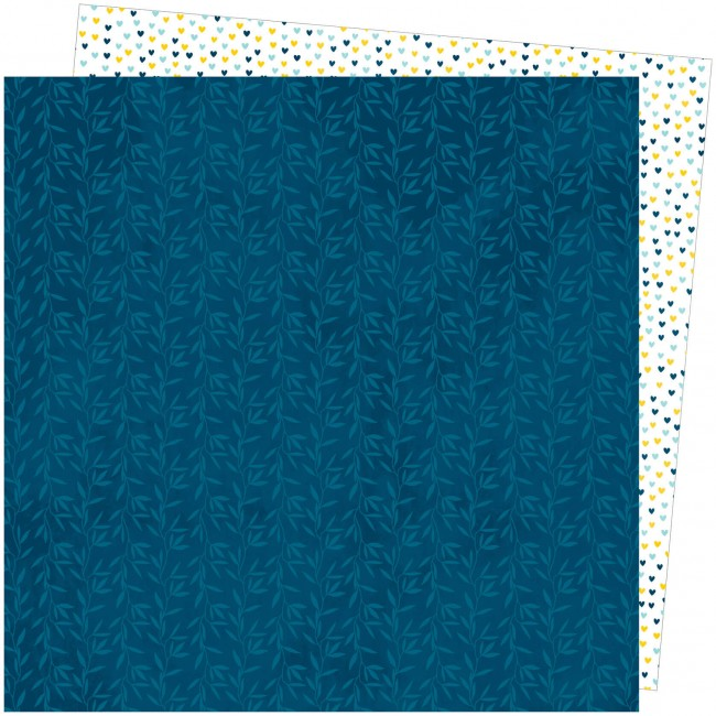 Papel Estampado Doble Cara 12x12 Slice Of Life Amy Tangerine Bamboo Blues