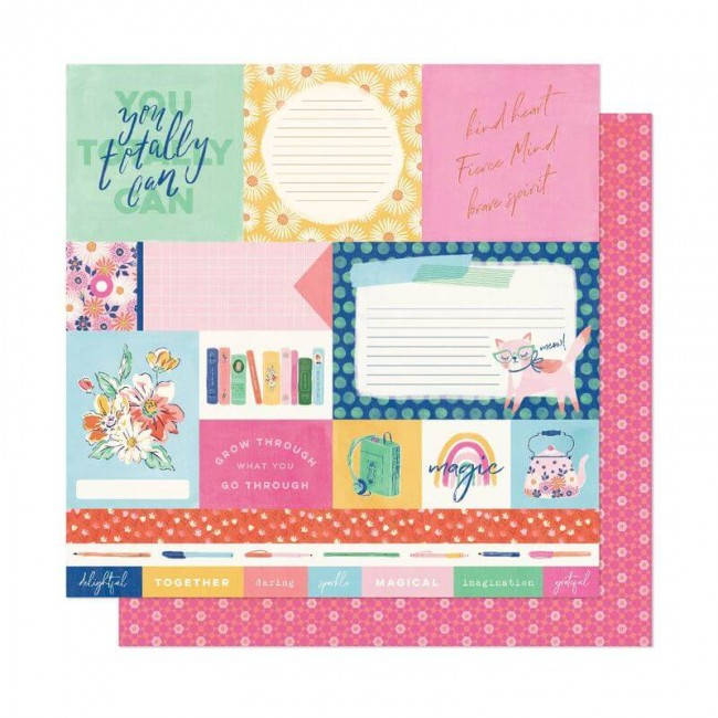 Papel Estampado Doble Cara 12x12 She's Magic Dear Lizzy You Totally Can